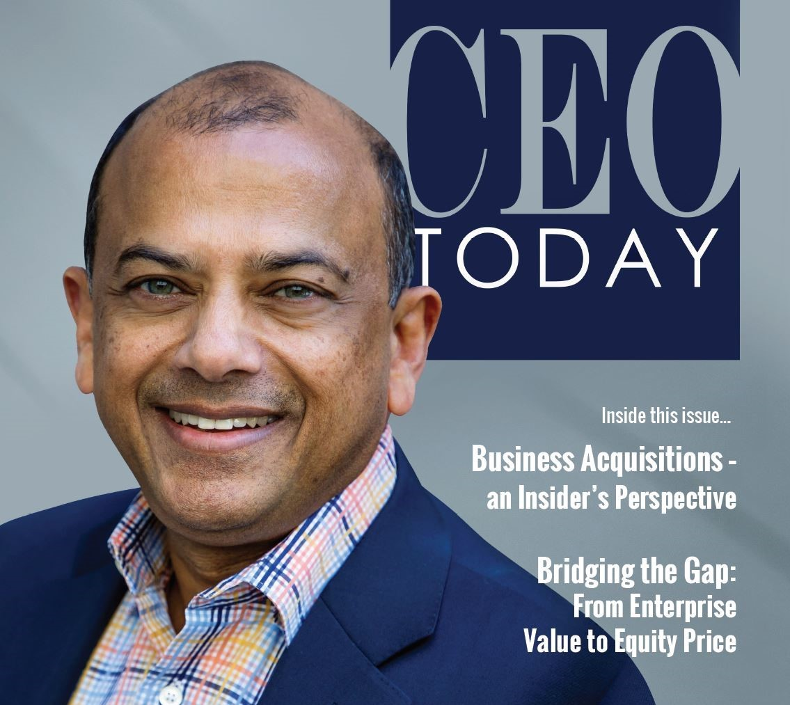 On the Cover of CEO Today Magazine – Ragu Bhargava